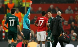 Gordon Hill talks about Nani being sent off